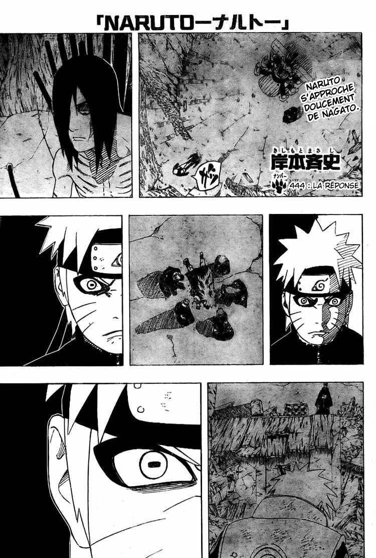 Chapitre Scan Naruto 444 FR Page 01