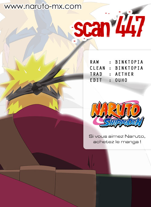 Chapitre Scan Naruto 447 FR Page 00