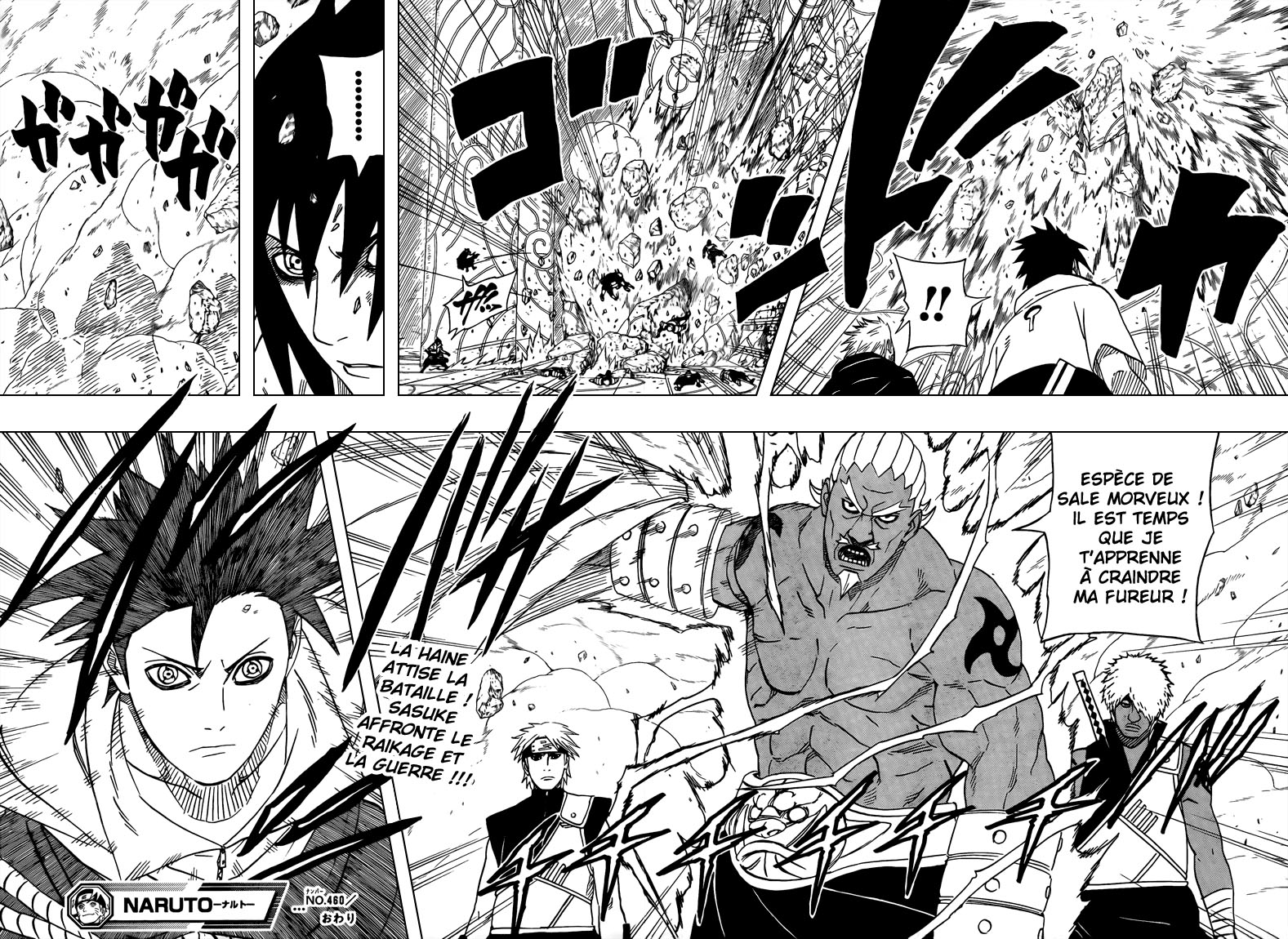 Chapitre Scan Naruto 460 FR Page 17-18