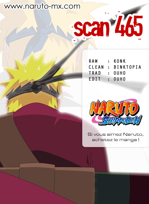 Chapitre Scan Naruto 465 FR Page 00