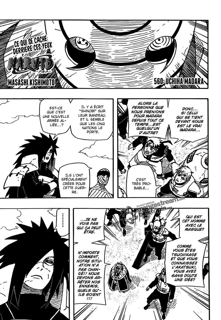 Chapitre Scan Naruto 560 VF Page 02