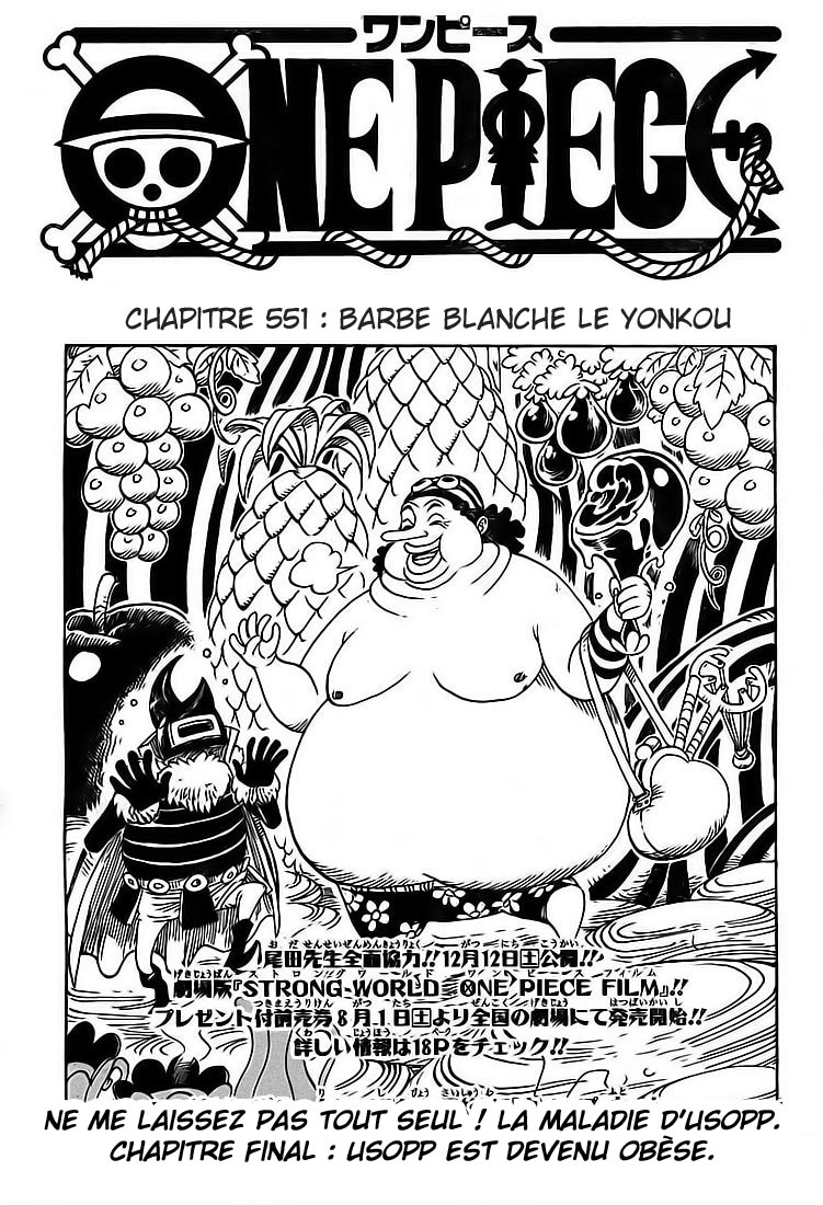 Chapitre Scan One Piece 551 FR Page 01